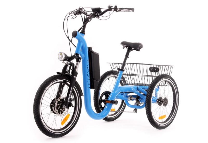Le tricycle fran ais lectrique evasion version 20 pouces - Tricycle couche electrique ...