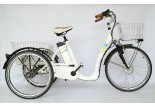 Tricycle electrique Comfort 26 blanc
