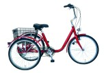 Tricycle adulte Marius rouge