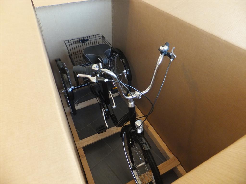 Tricycle électrique dans son carton