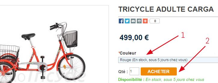 acheter un produit sur AlloTricycle.fr
