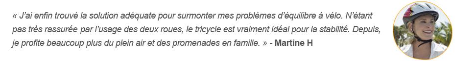 Témoignage client allotricycle problème équilibre à vélo